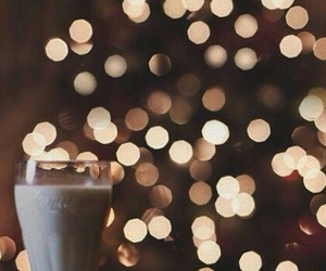 christmas, milk, and light image