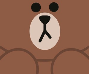 line, wallpaper, and bear image