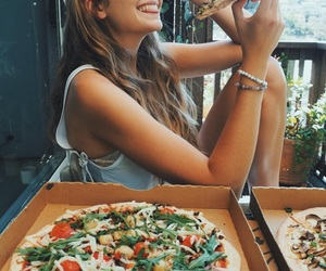 pizza, food, and girl image