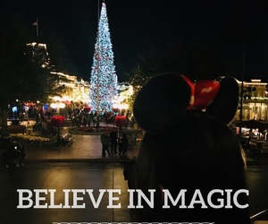 believe, christmas, and disneyland image