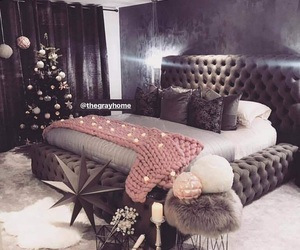 bedroom, christmas, and bed image