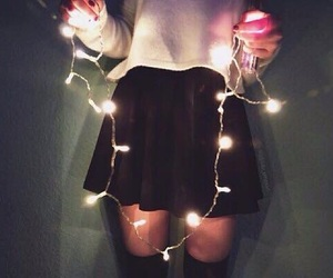 light, christmas, and skirt image
