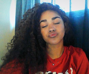 curls, dominican, and face image