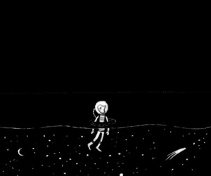 alone, space, and stars image