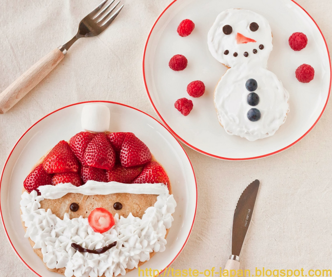 christmas food and snowman image