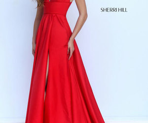 sherri hill 50296 and red evening gown 2016 image