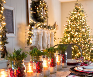 christmas, candle, and lights image