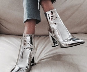 boots, fashion, and silver image