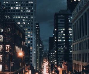 alone, lights, and night image