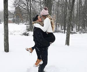 couple, love, and winter image