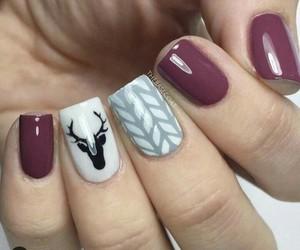 nail, nailart, and christmas nail image