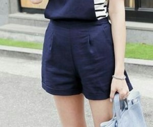 korean, outfit, and shorts image