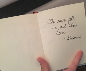 book, quotes, and rain image