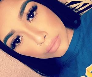beauty, blue, and eyelashes image