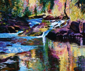 art, colorful, and forest image