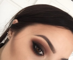 browns, earrings, and makeup image