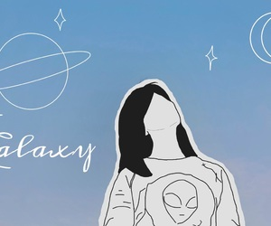 aesthetic, doodles, and galaxy image