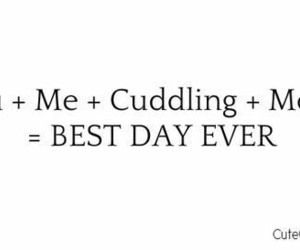 love, cuddling, and me image