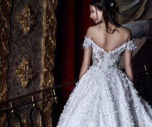 ball gown, bling, and bride image