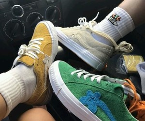 girl, vans, and golf image