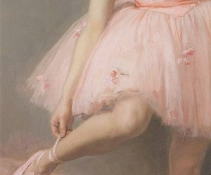 art, ballet, and pink image