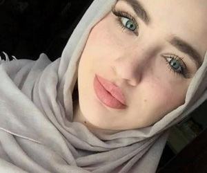 beautiful, hijab, and eyes image