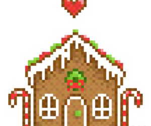 brown, candy, and pixel image