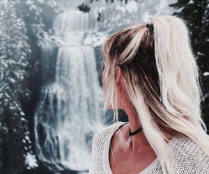 aesthetic, ice, and waterfall image