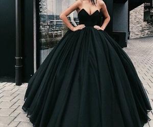 dress, black, and fashion image
