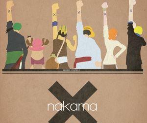 one piece, anime, and nakama image