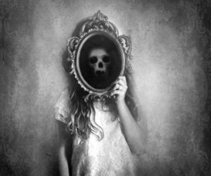 black&white, sad, and die image