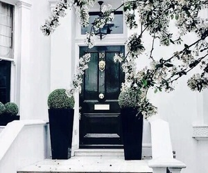 house, white, and black image