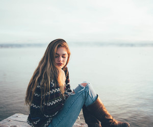 girl, nature, and model image
