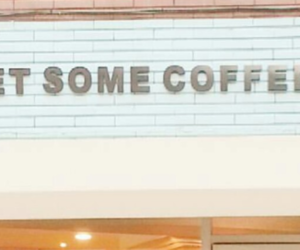 header, blue, and coffee image