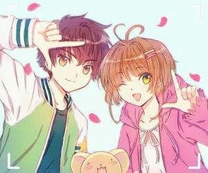 sakura kinomoto, sakura card captor, and syaoran li image
