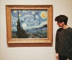 boy, art, and van gogh image