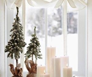 christmas, candle, and snow image