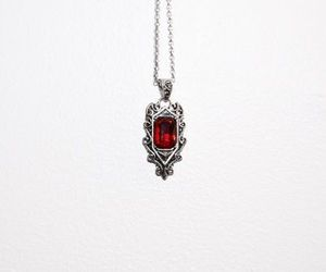jewelry, necklace, and red image