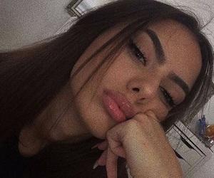 eyebrows, makeup, and insta baddie image