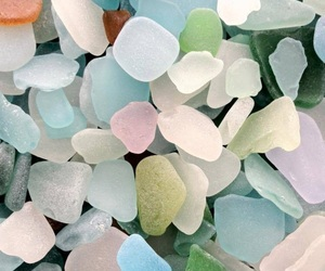 pastel, sea glass, and glass image