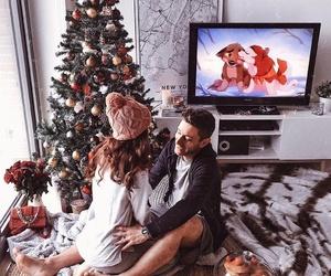 christmas, couple, and gifts image