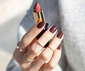 nails, fashion, and lipstick image