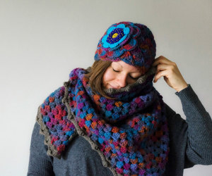 crocheting, knitting, and winter fashion image