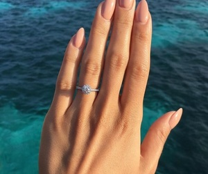 nails, ring, and sea image