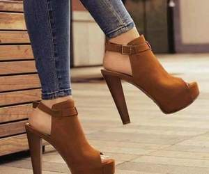 brown, pretty, and shoes image