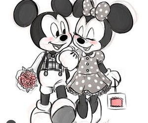 couple, mickey, and mickey mouse image
