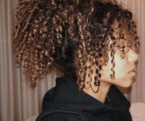 curls, curly, and girls image