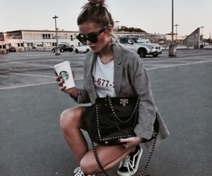 fashion, girl, and starbucks image