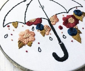 embroidery, handwork, and flower image