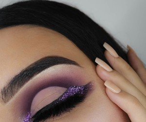 makeup, eyes, and icon image